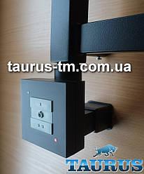 Чёрный квадратный ТЭН KTX1 MS BLACK с маскировкой провода + 2 режима нагрева (50 и 100%). Мощность: 120-1000W