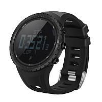 Спортивные часы FR801B – водозащита 5АТМ, шагомер, калории, термометр, барометр, альтиметр, компас. Черный
