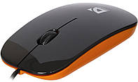 Проводная оптическая мышь Defender NetSprinter MM-440 черный+оранжевый,3 кнопки