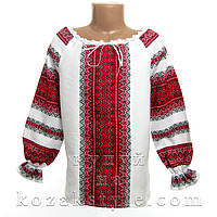 Українська сорочка з червоним орнаментом, фото 1