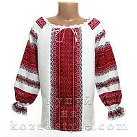 Українська сорочка з червоним орнаментом
