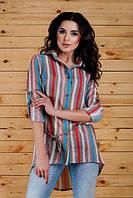 Женская рубашка-туника в полоску