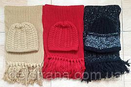 Вязаный набор шапка и шарф