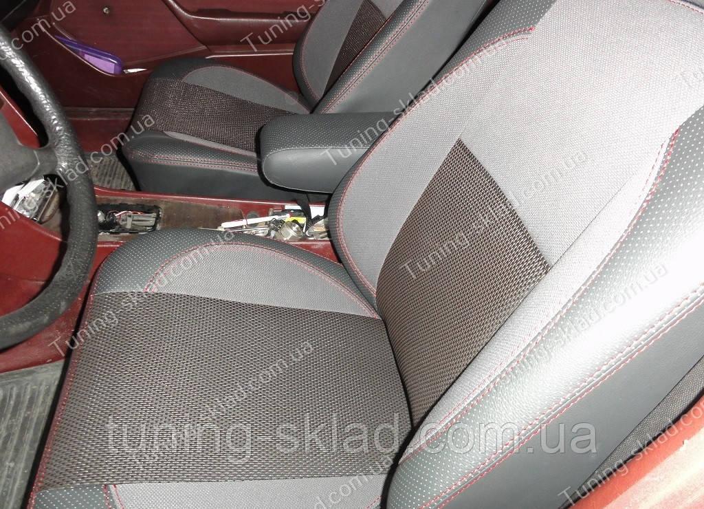 Чехлы на сиденья Мерседес W124 (чехлы из экокожи Mercedes W124 стиль Premium)