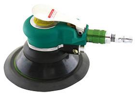 """Пневматическая орбитальная шлифмашинка 6"""" с самоотводом пыли (мешок для пыли),  9000 об/мин,  380 л/мин."""