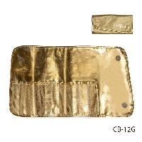 Чехол для кисточек (12 ячеек), золотой,Lady Victory LDV CB-12G /5-1