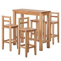 Барный комплект стол барный кухонный и 4 барных стула из массива сосны 014