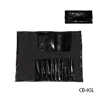 Чехол для кисточек (9 ячеек), черный, лакированный,Lady Victory LDV CB-9BL /05-1