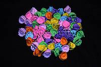 Крабики для волос ромашки маленькие, пастельные, каучуковые, 100 шт.