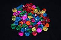 Крабики для волос ромашки маленькие, яркие, каучуковые, 100 шт.