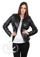 Куртка кожаная косуха черная, фото 1