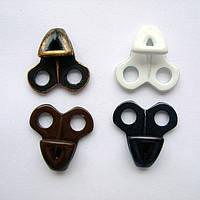 Крючёк обувный  литой 50291  крашеный,никель,блэк никель,оксид.