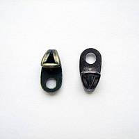 Петля обувная литая 50297 чёрная крашеная,никель,блэк никель,оксид.
