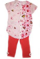 Костюм детский летний на девочку с блузкой