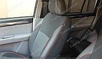 Чехлы на сиденья Митсубиси Паджеро Спорт 2 (чехлы из экокожи Mitsubishi Pajero Sport 2 стиль Premium)