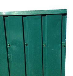 Верхня планка торцева, колір зелений, для паркану з профнастилу, 2 м