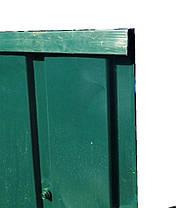 Торцевая верхняя планка, цвет зеленая, для забора из профнастила, 2 м, фото 3