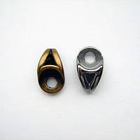 Петля обувная литая 50295 чёрная крашеная,никель,блэк никель,оксид.