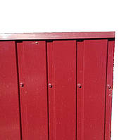 Торцевая верхняя планка, цвет вишня, для забора из профнастила, 2 м