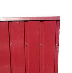 Верхня планка торцева, колір вишня, для паркану з профнастилу, 2 м