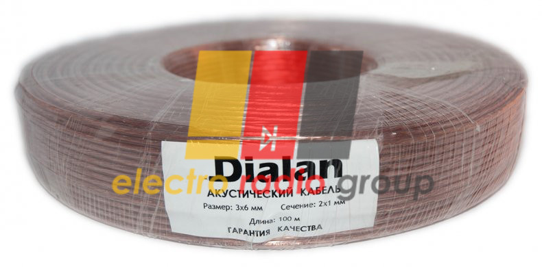 Акустический кабель 2*1  (bimetal) - Электро Радио Груп - 1-й магазин электрики и радиоэлектроники в Кривом Роге