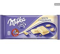 Шоколад Milka Biala ( білий ) 100гр. 1п-22шт