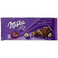 Шоколад Milka Raisin & Nut (ізюм+ліс.горіх) 100г. 1п-20шт