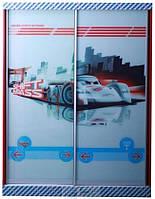 Шкаф-купе 2-х дв.Тачки Дизайн Дисней Сю Тодороки гонки 2дв.