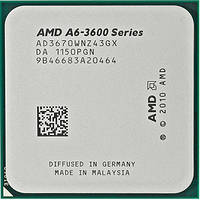 Процессор AMD A6-3670K Llano Б\У