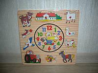 Деревянные игрушки часы для самых маленьких