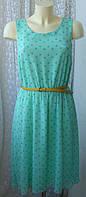 Платье женское летнее легкое модное мини бренд Papaya р.46 6222