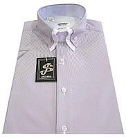 Мужская рубашка с коротким рукавом в полоску S 5.1 7334-V4 M 50 / (40)