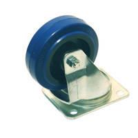 Ролик W0990-01 . Ø 100 мм. Синий. Допустимая нагрузка 200 кг. Поворотный, без стопора., фото 1