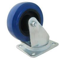 Ролик W0990/80 . Ø 80 мм. Синий. Допустимая нагрузка 80 кг. Поворотный, без стопора., фото 1