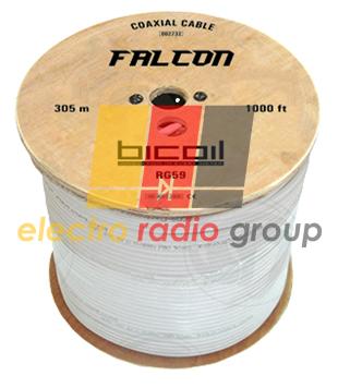 BiCoil коаксіальний кабель RG59 FALCON - Электро Радио Груп - 1-й магазин электрики и радиоэлектроники в Кривом Роге
