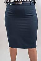 Женская юбка с вышивкой и стразами 167