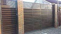 Деревянные ворота из ольхи
