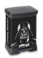 Ведро для мусора 30 литров с педалью Star Wars Curver