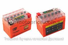 """АКБ   12V 4А   гелевый   """"OUTDO""""   (114x71x88, оранжевый, с индикатором заряда)"""