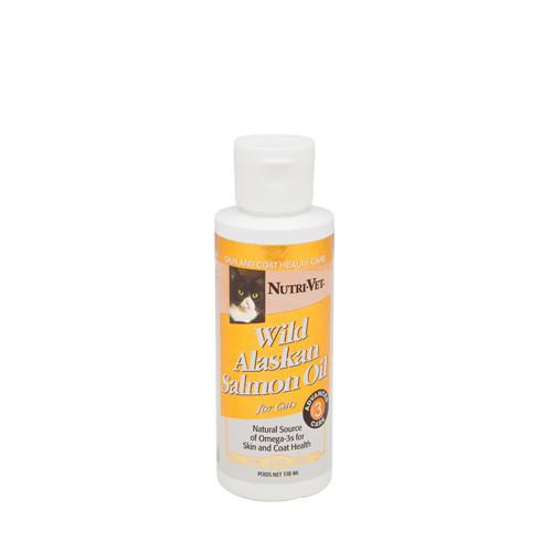 Nutri-Vet Salmon Oil НУТРИ-ВЕТ МАСЛО ДИКОГО ЛОСОСЯ витаминная добавка для шерсти кошек, жидкая