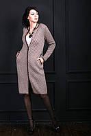 Теплое женское кардиган-пальто