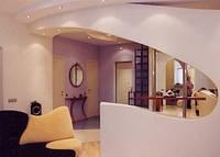 Декоративные перегородки в интерьере из гипсокартона