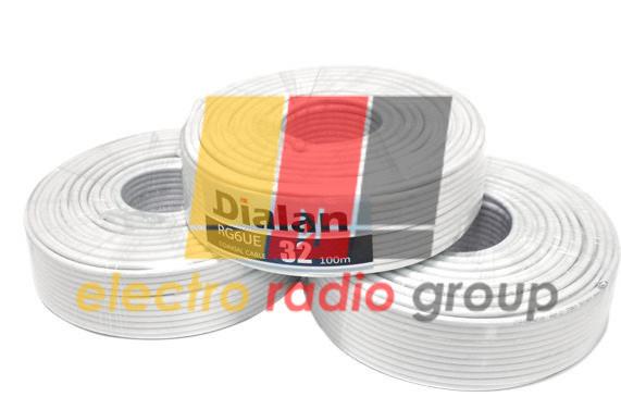 Кабель Dialan RG6U-32W CCS экранирование 32% 75 Ом (50м) - Электро Радио Груп - 1-й магазин электрики и радиоэлектроники в Кривом Роге