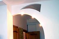 Перегородки с аркой из гипсокартона