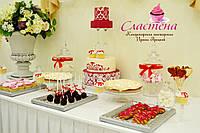 Свадебный Кенди бар (Candy Bar) в красном цвете