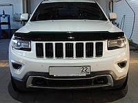 Дефлектор капота, мухобойка Jeep Grand Cherokee 2011- Джип Гранд Чероки