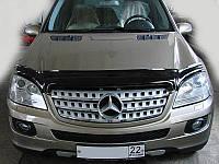 Дефлектор капота, мухобойка Mercedes M-Class 2005-2011 Мерес М-Клас