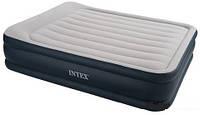 Велюр кровать Intex 67736 синяя, 3 слоя, 163-208-48 см KHT