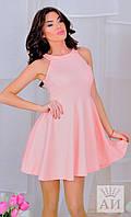 Платье с юбкой клеш А1223 в расцветках