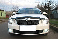 Дефлектор капота, мухобойка Skoda Superb II 2008- Шкода Суперб II